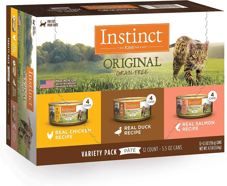 Instinct Grain Free Wet Cat Food Pate, Original Recipe Natural Canned Cat Food