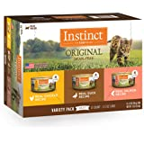 Instinct Original Grain Free Recipe Variety Pack Natural Wet Canned Cat Food by Nature's Variety, 5.5 oz. Cans (Pack of…