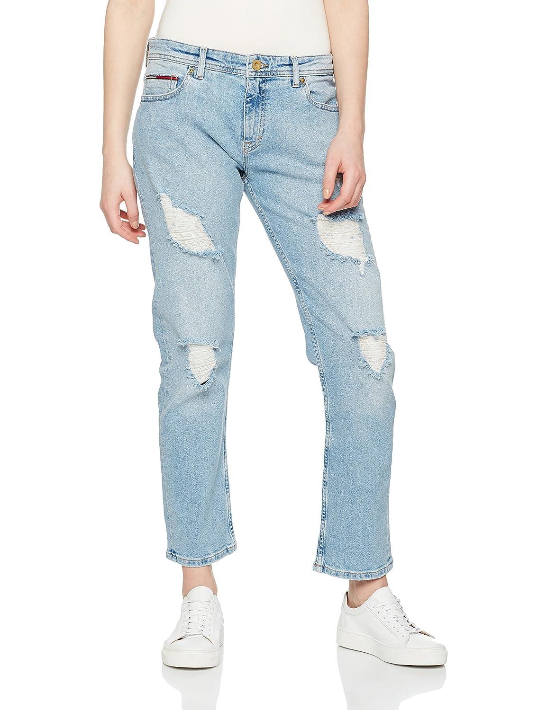 TALLA W28 (Talla del fabricante: NI28). Tommy Jeans Mujer STRAIGHT CROPPED LANA FRLBL Vaqueros  7/8