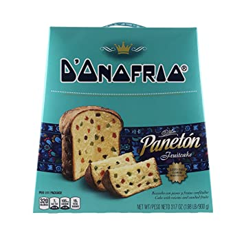 Paneton Donofrio Fruit Cake - Gourmet Traditional Panettone Dessert Bread - Imported from Peru
