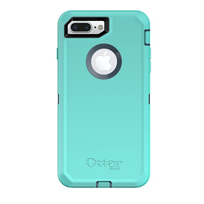 newest e64a6 610eb OtterBox DEFENDER SERIES Case for iPhone 8 Plus & iPhone 7 Plus (ONLY) -  Retail Packaging - BOREALIS (TEMPEST BLUE/AQUA MINT)