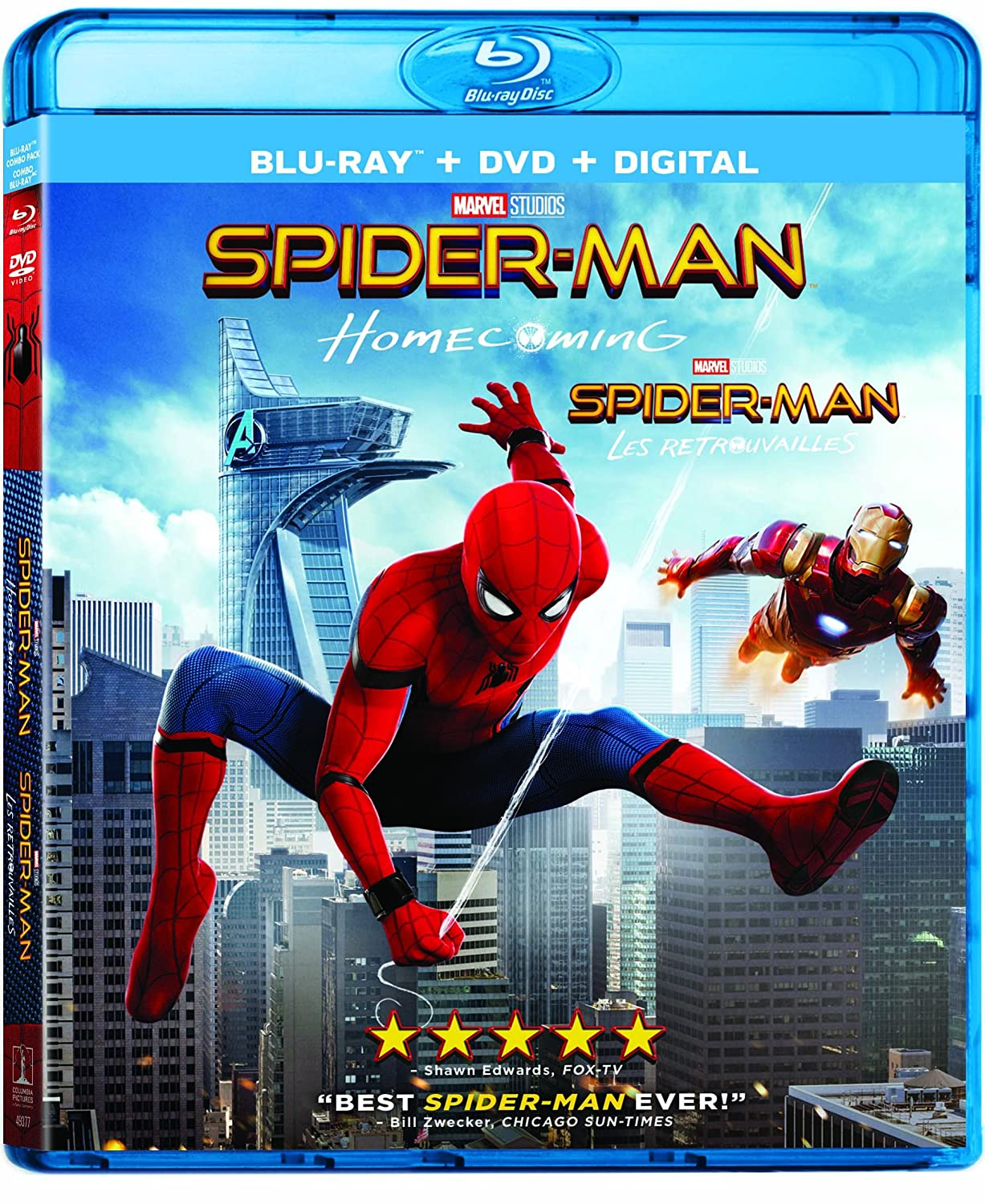 Spider-Man: Homecoming [Blu-ray] (Bilingual) Tom Holland Robert Downey Jr. Michael Keaton Jon Watts