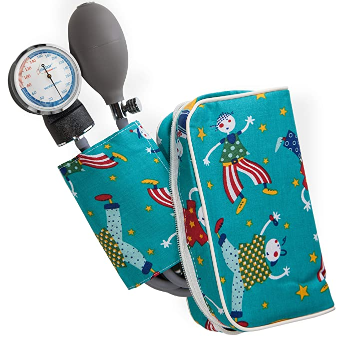 AIESI Esfigmomanometro Tensiómetro Manual Pediatrico Profesional Aneroide clásico con brazalete de colores para ninos DOCTOR PRECISION CHILD ✓ Medidor de ...