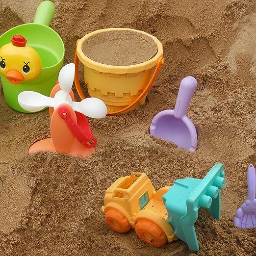 Amazon.com: Parts 3 A Beach Sand Toys Set for Kids,Beach Pail Set ...