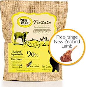 Wishbone Pasture Grain Free and Gluten Free Cat Food, Made from New Zealand Lamb Dry Cat Food, All Natural Dry Cat Food, High Protein, Minerals and Taurine Dry Cat Food, for All Cat Life Stages