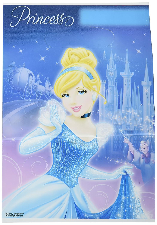 Amscan Disney Cinderella Birthday Folded Plastic Loot Bags Childrens Party Supply Packs