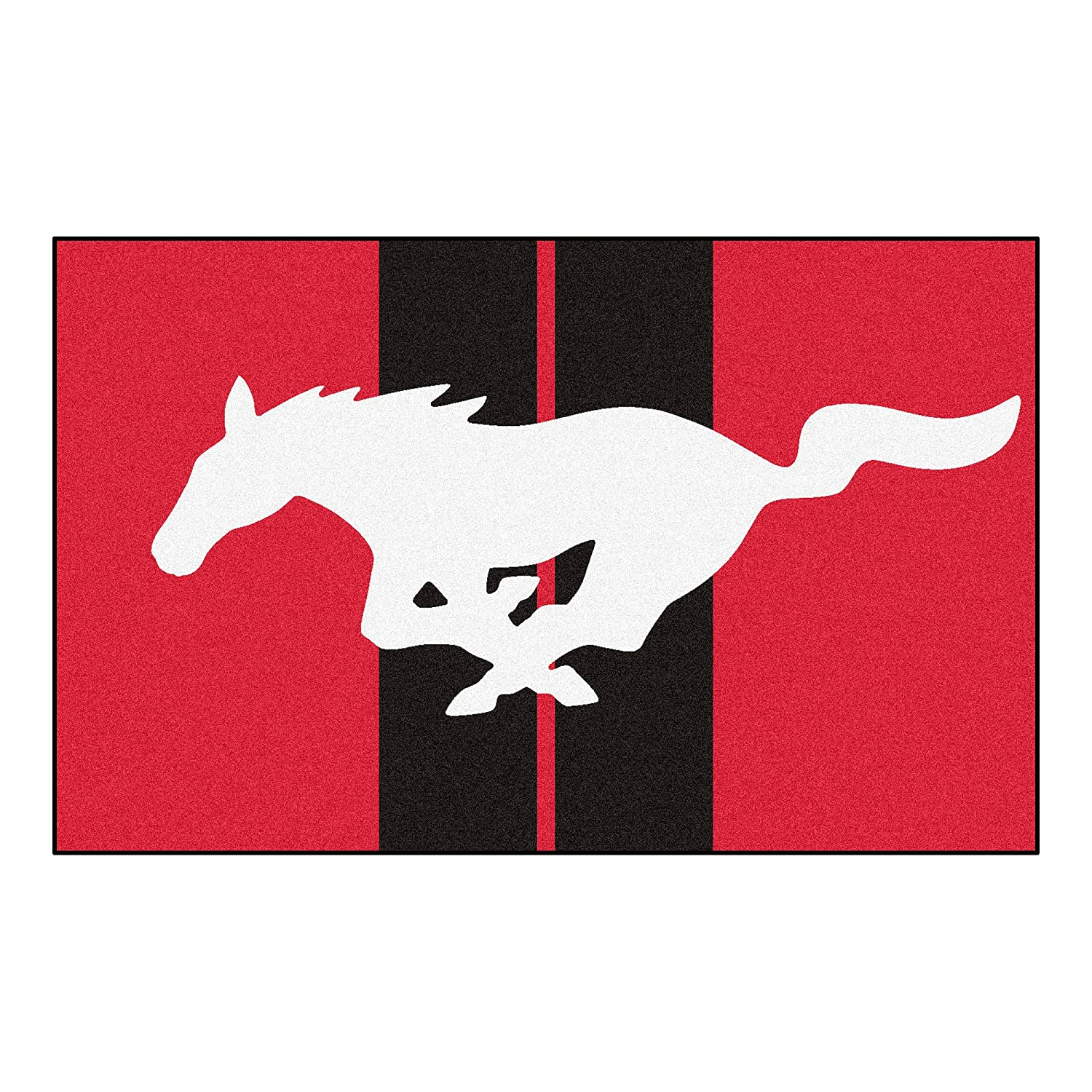 60 x 96//Small Mustang Horse Ultimate Mat NASCAR Ford Red
