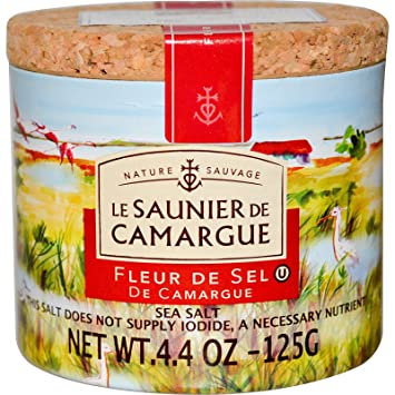 Amazon Com Le Saunier De Camargue Fleur De Sel Sea Salt 4 4 Oz