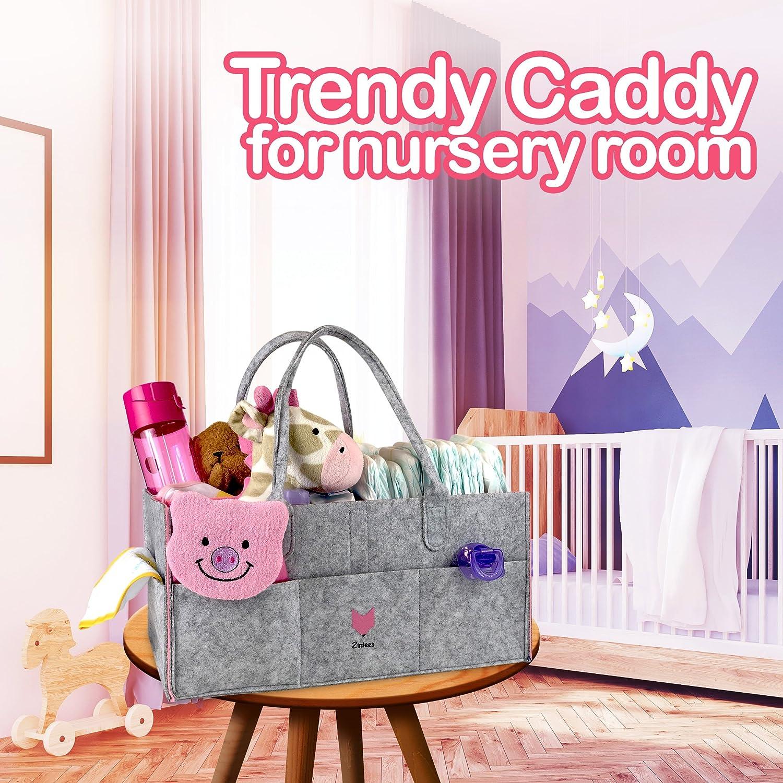 Amazon.com: zintees Caddy de pañales de bebé   Guardería ...