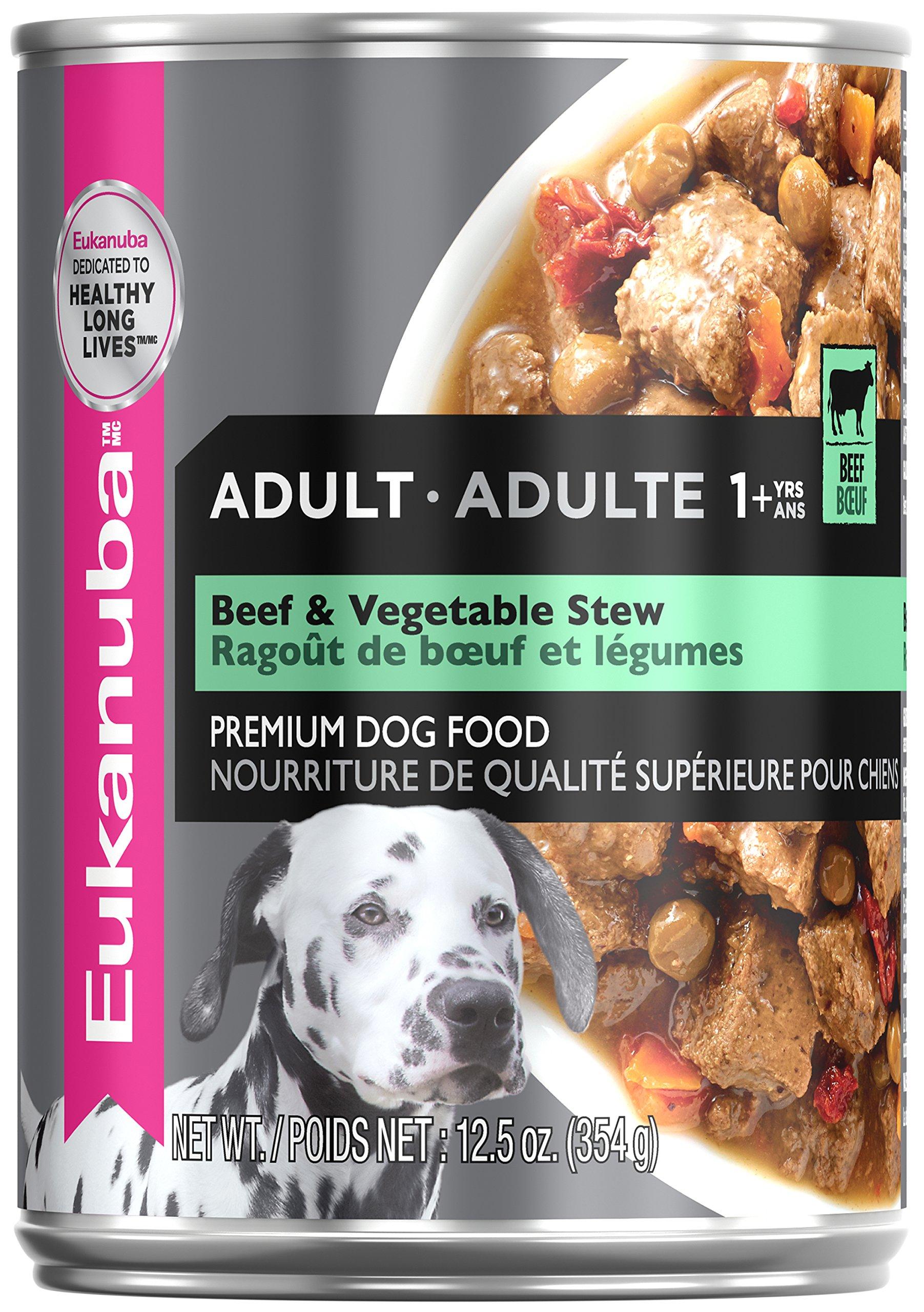 Eukanuba Wet Food 10154703 Adult Beef & Vegetable Stew Canned Dog Food (Case of 12), 12.5 oz