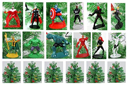 avengers mini christmas tree ornaments set 2 plastic mini shatterproof ornaments perfect for small - Mini Christmas Tree Ornaments