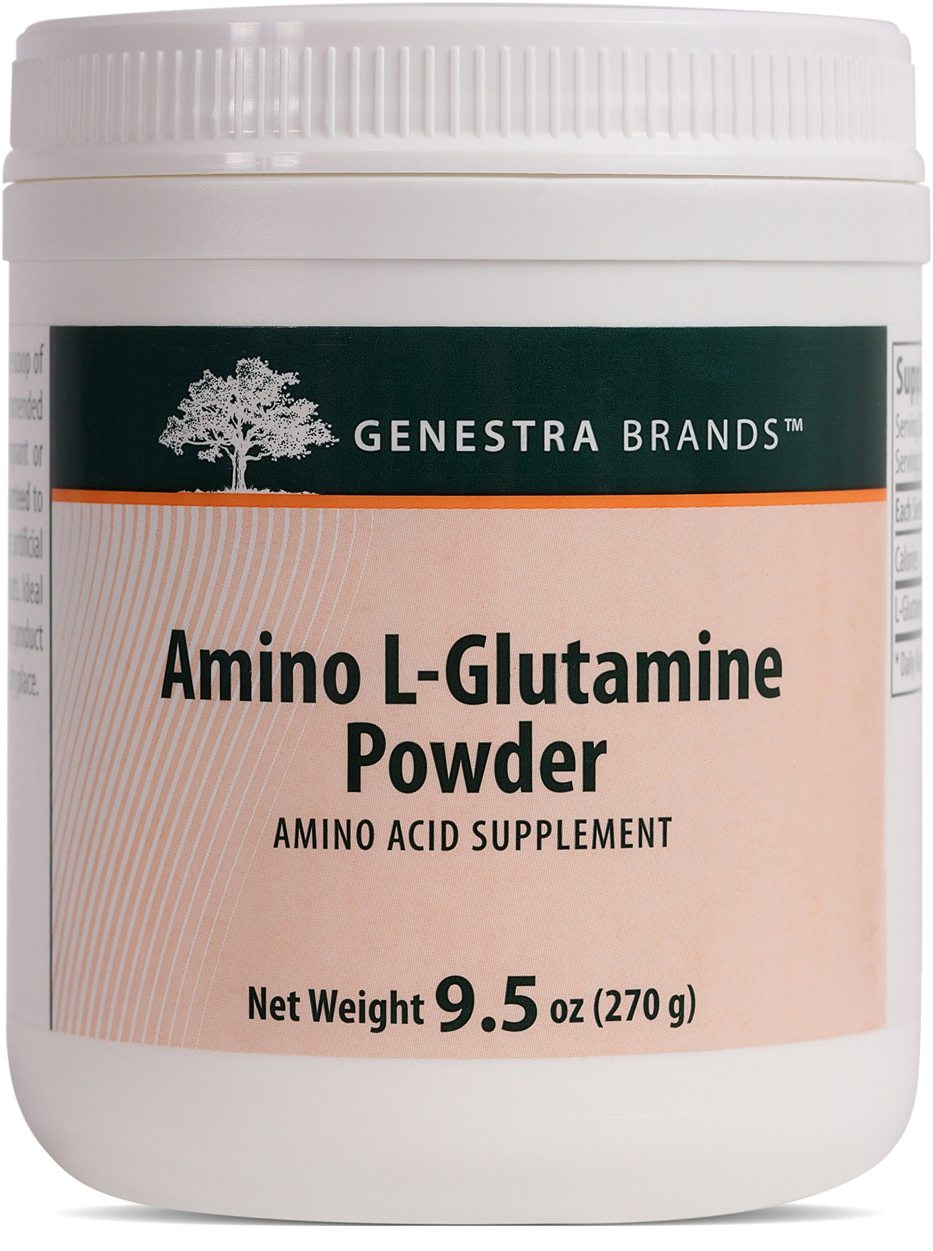 Genestra Brands - Amino L-Glutamine Powder - Amino Acid Supplement for GI and Immune Health* - 9.5 oz.