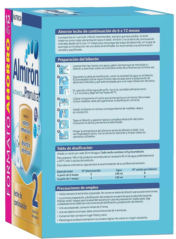 Almiron Advance 2 Crecimiento Leche En Polvo - 1200 g: Amazon.es: Amazon Pantry