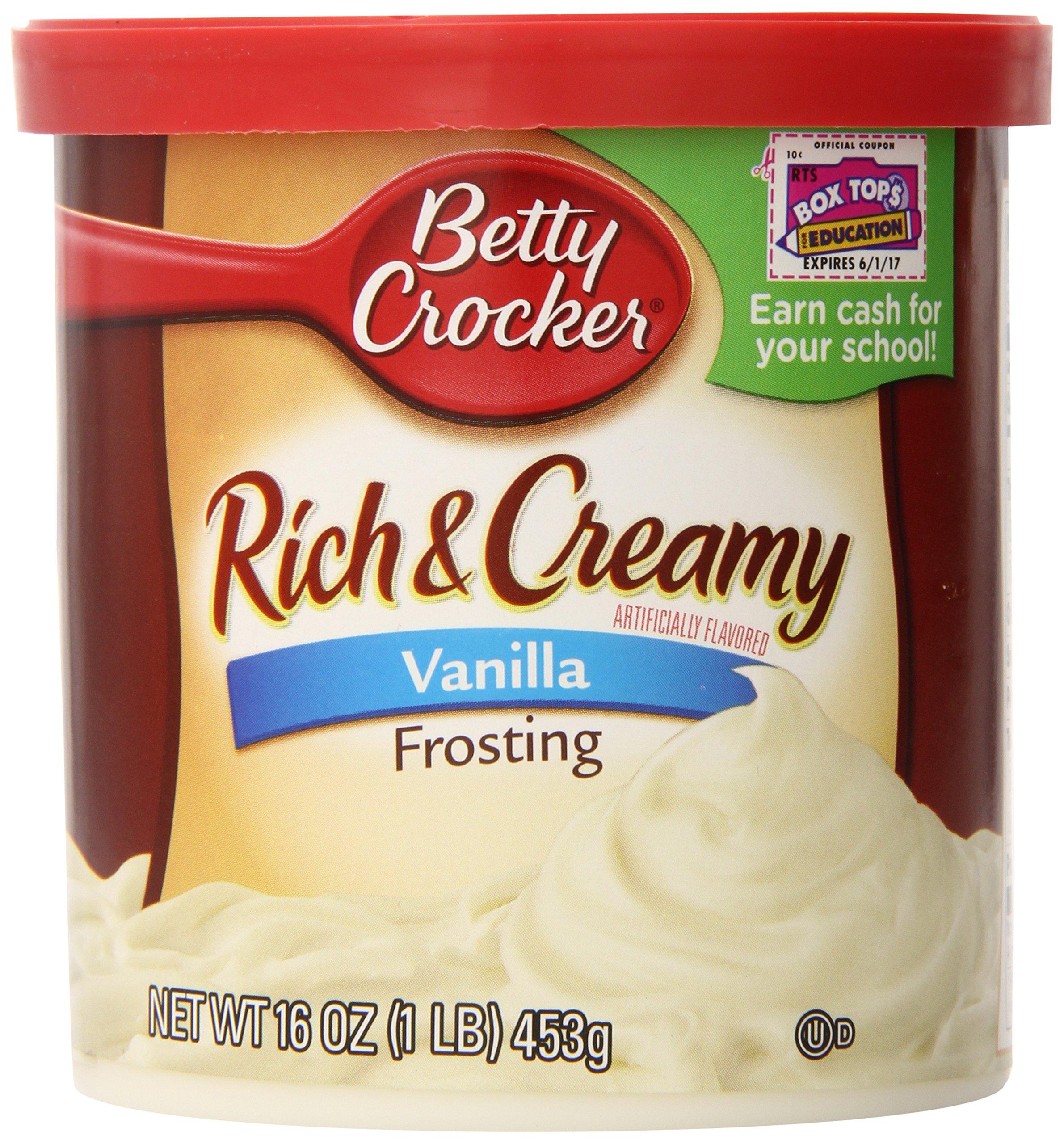 Betty Crocker Rich & Creamy Vanilla Frosting 16 oz