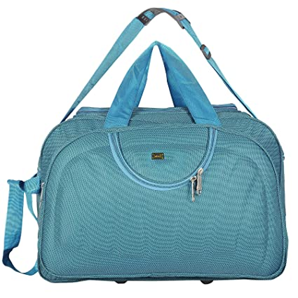 Alfisha Lightweight Polyester Luggage Travel Duffel Bag with Roller Wheels  Strolley Bag (Blue)  Amazon.in  Bags, Wallets   Luggage c4f0c5d4f8
