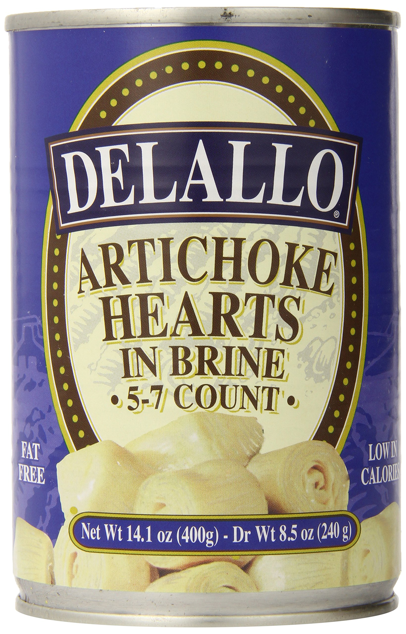 DeLallo Artichoke Hearts, Net Wt. 14.1 Unit (Pack of 6)