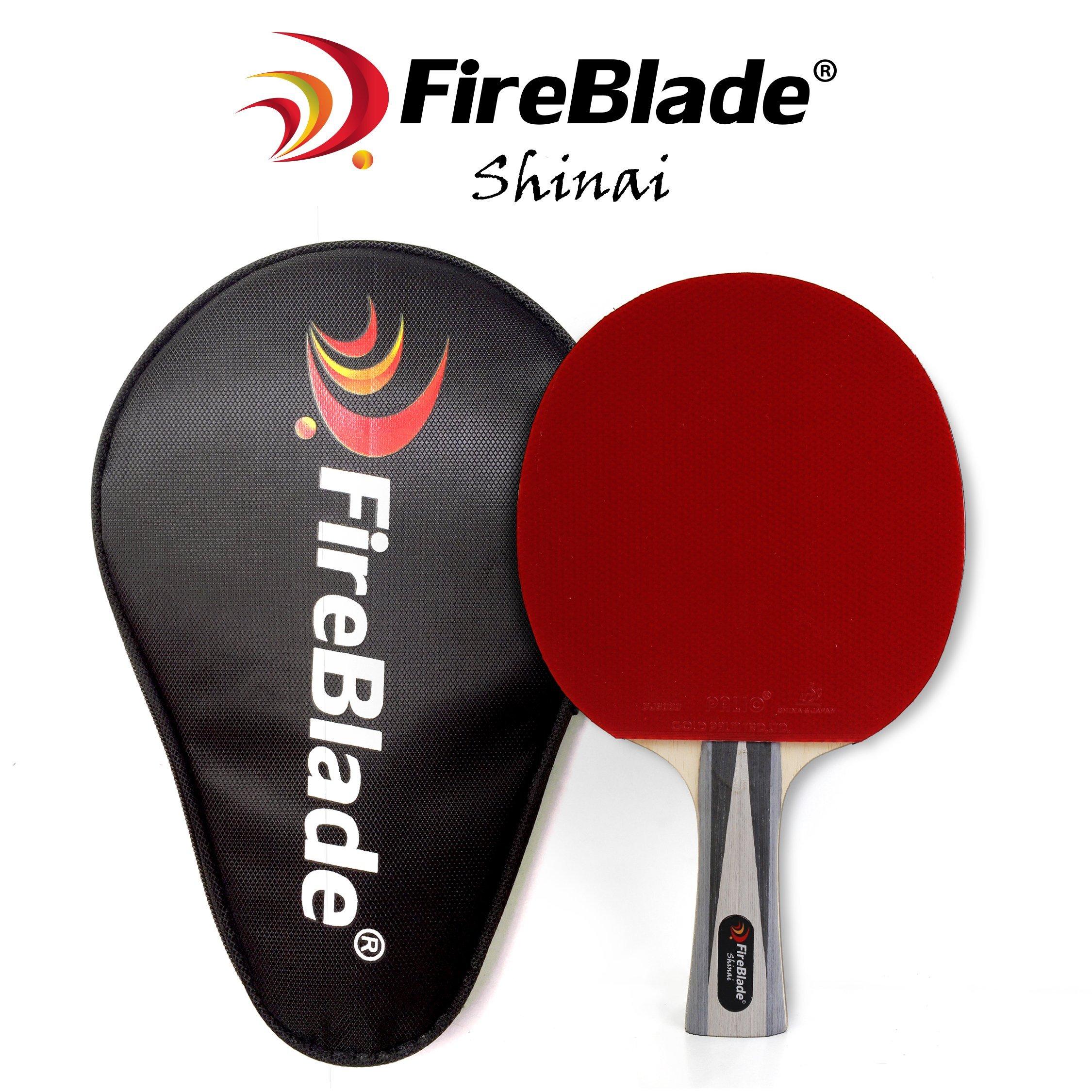 Red /& Yellow Flared Blade Colour Options: Blue Tibhar Powercarbon XT Table Tennis Bat