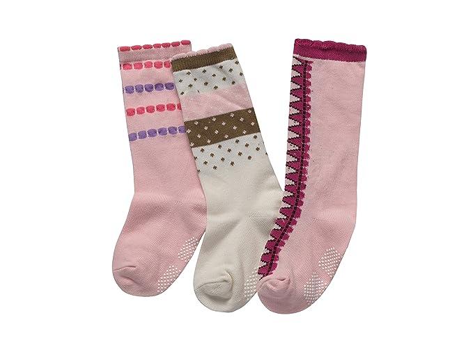 4554d2d4f25 Amazon.com  Alva Edison 3 Pairs Unisex Knee High Cotton Socks Pink  Clothing