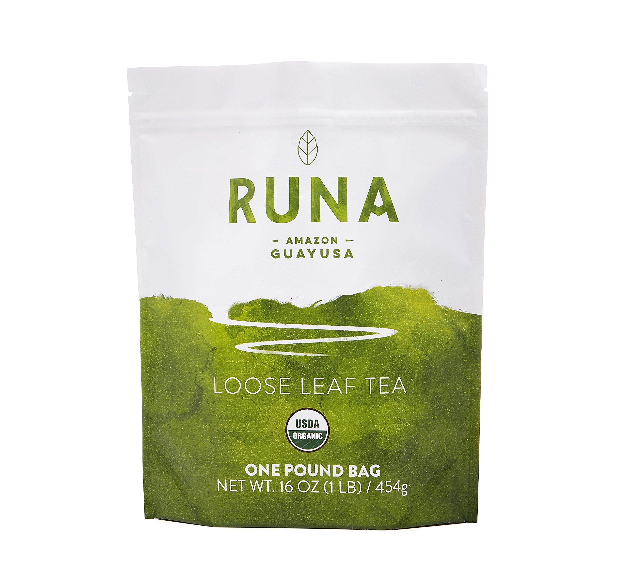 RUNA Organic Clean Energy Loose Leaf Guayusa Tea, Traditional, 1 Pound, 16 oz