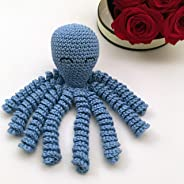Crochet Octopus for babies, octopus for preemies - Light blue