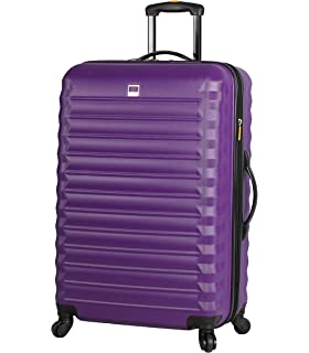 b4750d709 Lucas ABS Mid Size Hard Case 24 inch Rolling Suitcase With Spinner Wheels  (24in,