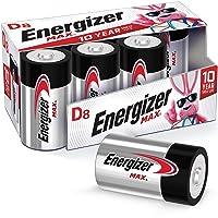 Energizer Max D Batteries, Premium Alkaline D Cell Batteries (8 Battery Count)