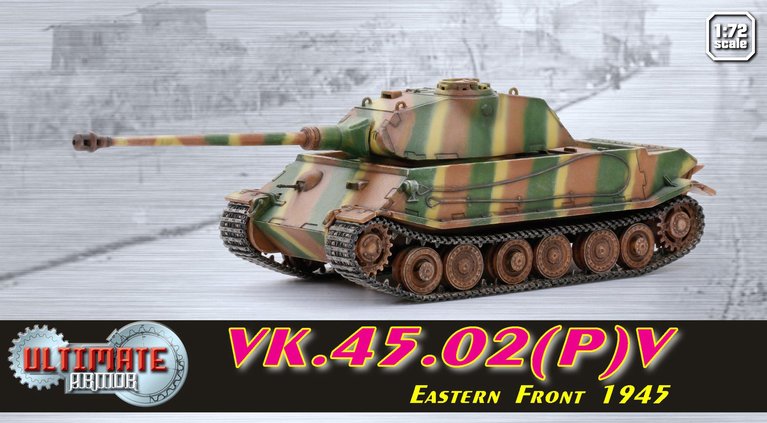 Dragon Models VK.45.02(P) V Eastern Front 1945 Ultimate Armor Building Kit, 1/72-Scale