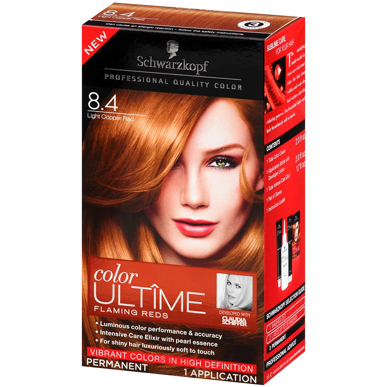 Amazon Schwarzkopf Color Ultime Flaming Reds Hair Coloring Kit