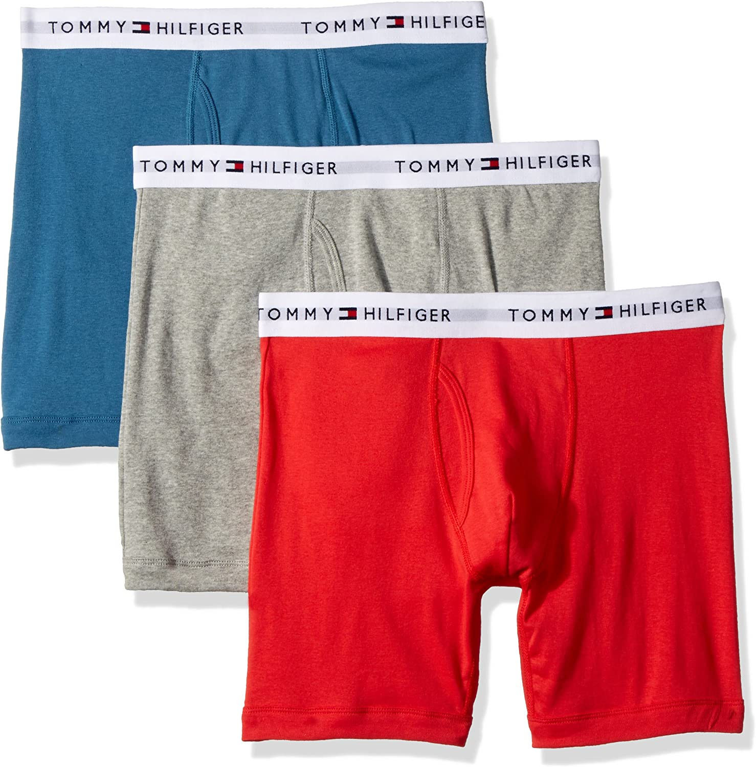 Tommy Hilfiger Hombres 3-Pack Cotton Boxer Brief Calzones ...
