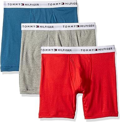 Tommy Hilfiger Hombres 3-Pack Cotton Boxer Brief Calzones Calzoncillo - Multi -: Amazon.es: Ropa y accesorios