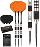 Red Dragon Amberjack 5: 24 gram - 90% Tungsten Steel Darts with Flights, Shafts, Wallet & Red Dragon Checkout Card