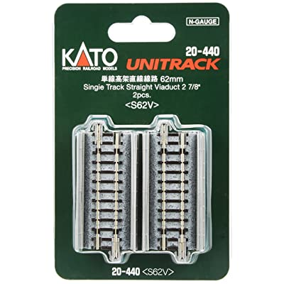 "Kato KAT20440 N 62mm 2-7/16"" Straight Viaduct (2): Toys & Games"
