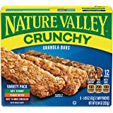 Nature Valley Crunchy Granola Bars, Variety Pack, 21g (Pack of 12)