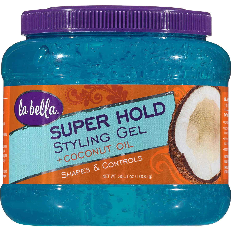 La Bella Super Hold Styling Gel + Coconut Oil 35.3oz