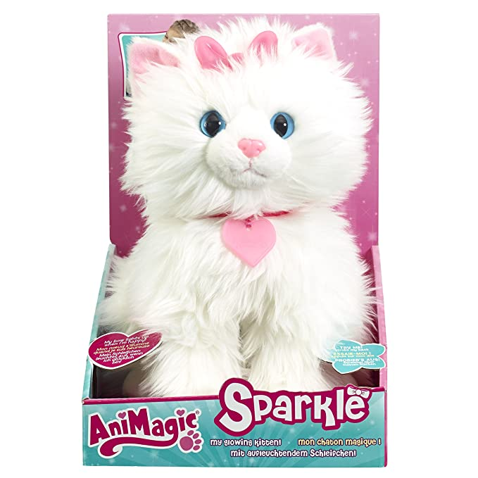 Amazon.com: AniMagic – Feature Plush Sparkle Shimmer Bow ...