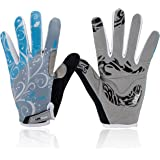 Basecamp Bike Full Finger Skeleton Gloves,Slip-Resistant Performance Specialized Bike Cycling Bicycle Riding Gloves for Women and Men, Hand Gloves for Bike Riders