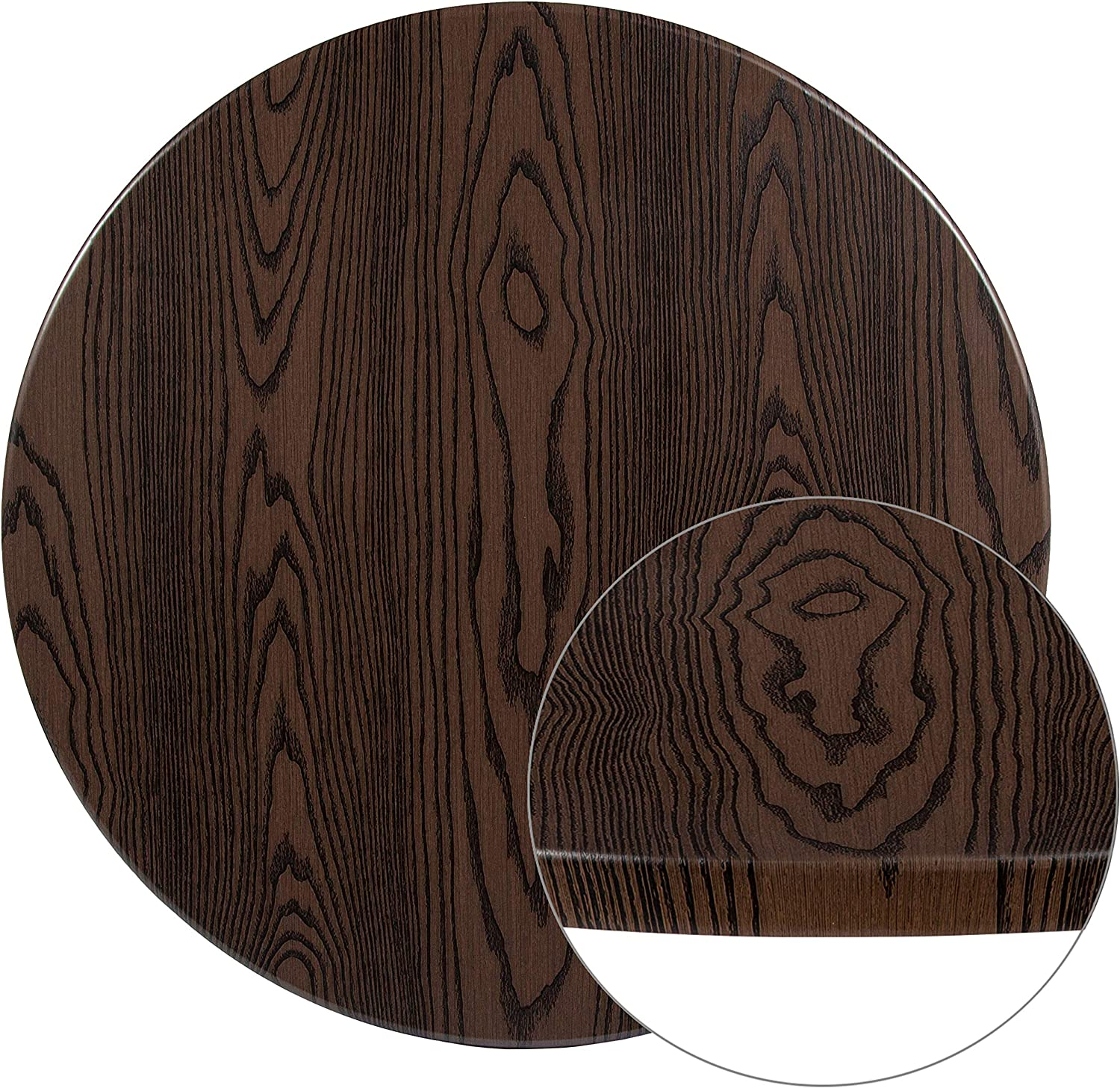 "Flash Furniture 36"" Round Rustic Wood Laminate Table Top"