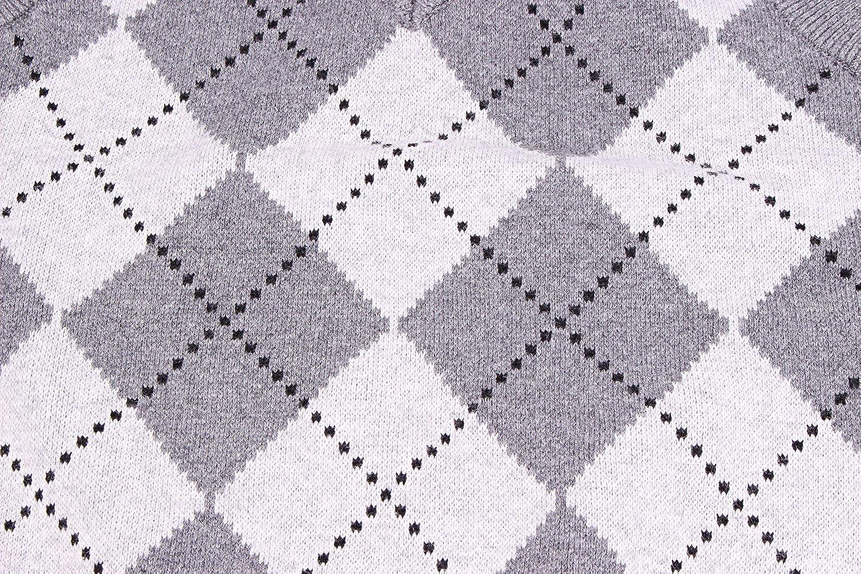 Enimay Kids School Uniform Knit Sweater V-Neck Vest Argyle Pattern Pullover
