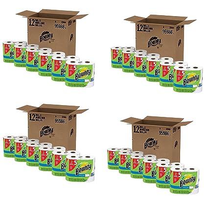 Bounty select-a-size toallas de papel, blanco, gran rollo ifugqo, 4 unidades (12 enorme rollos): Amazon.es: Hogar