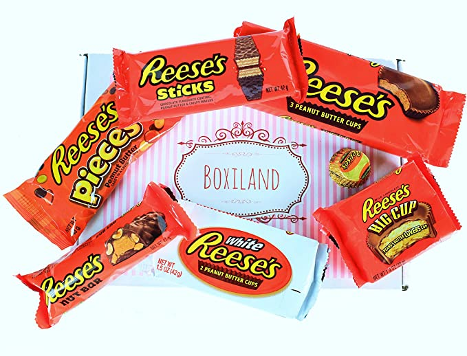 "Caja de Golosinas Americanas - ""Reeses-Box"" - Paquete de regalo con"