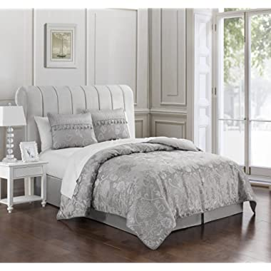 MARQUIS BY WATERFORD SAMANTHA Comforter Set, Queen, platinum