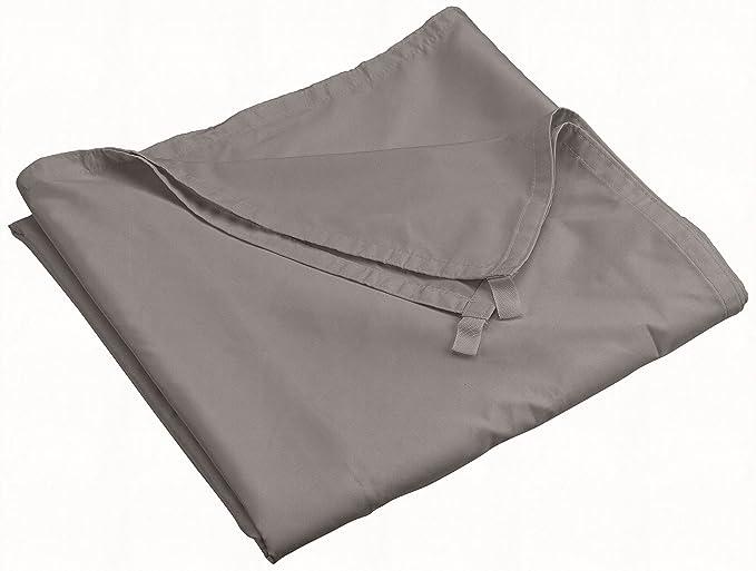Ideanature toile d'ombrage rectangulaire 2,45x3,45m polyester déperlent anti UV 160 gr/m2 gris anthracite, 500009, Gris Anthracite, 44 x 25 x 5 cm, 500009