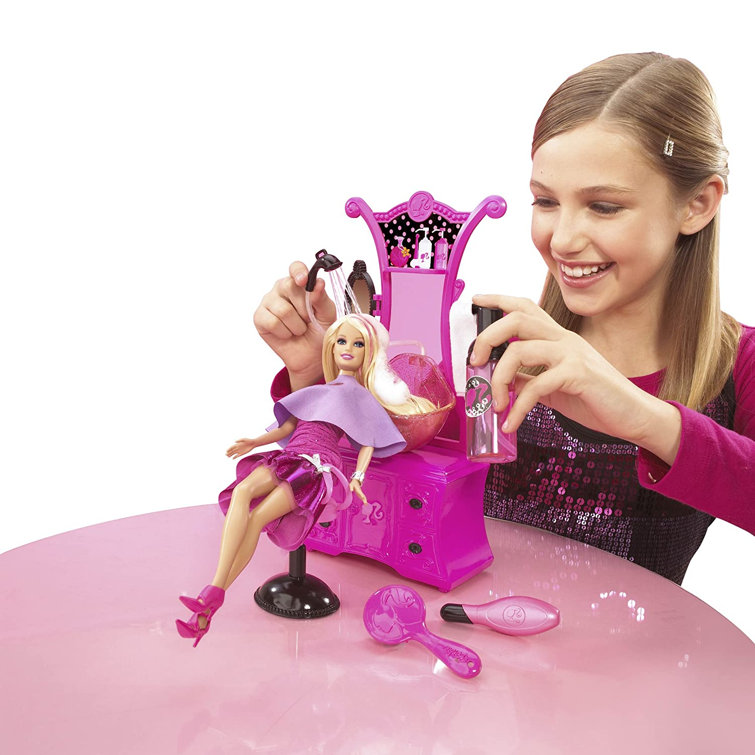 Barbie Hair Salon Doll Amazoncouk Toys Games - Hairstyle barbie doll