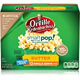Orville Redenbachers Smart Pop Butter Microwave Popcorn 94% Fat Free (12 Count of 1.16 oz bags each), 13.96 oz