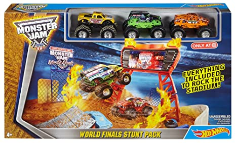 Amazon Hot Wheels Monster Jam World Finals Stunt Pack Play Set