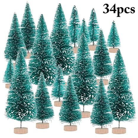 Frostys Christmas Bar.Amazon Com Fascigirl 34pcs Mini Christmas Tree Artificial