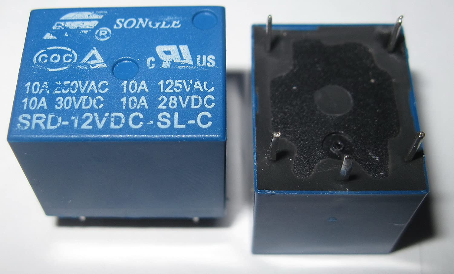2 Pieces Songle Power 12VDC Household Appliance Relay SRD12VDCSLC