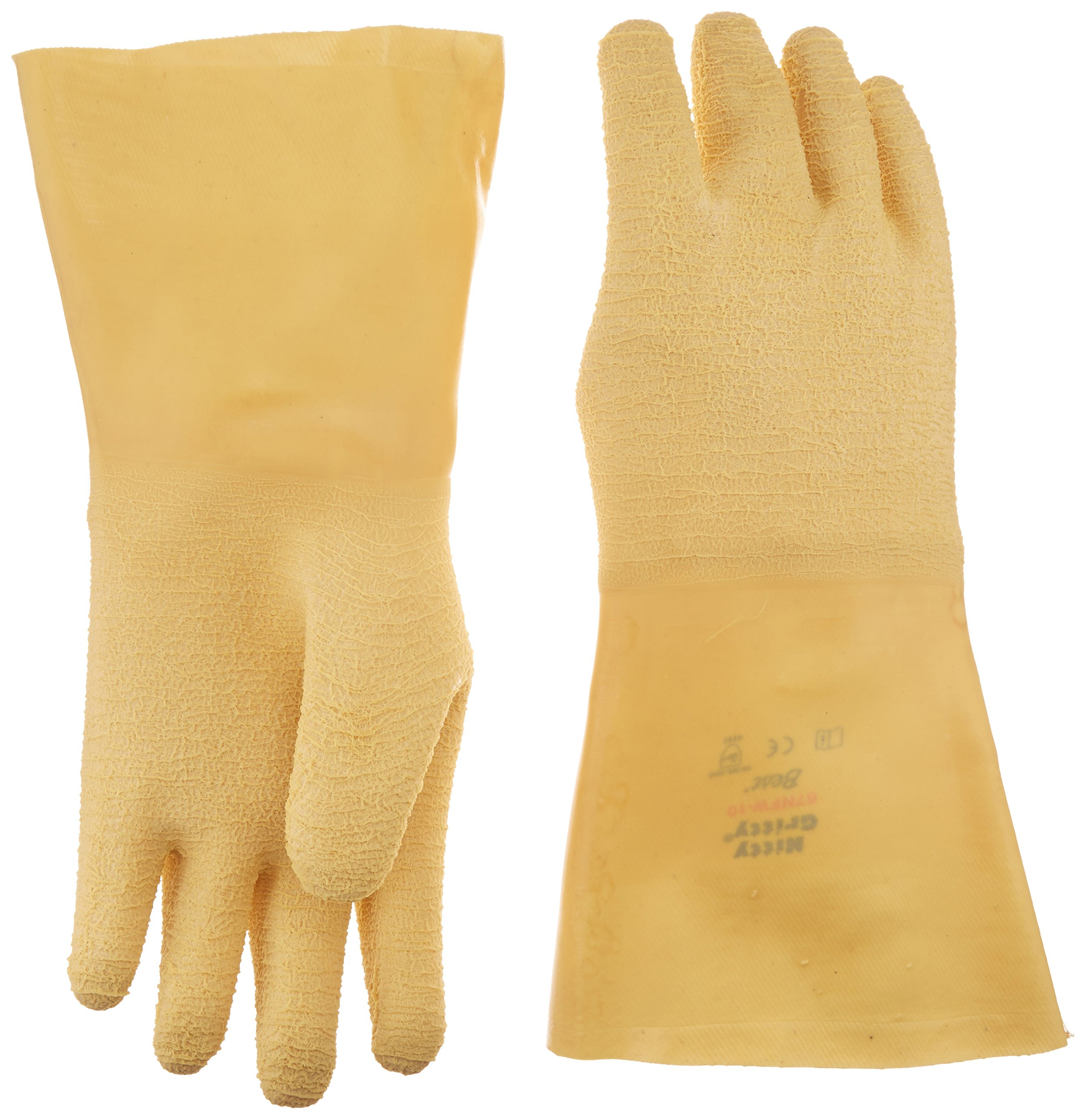Best Glove 67NFW-10 Original Nitty Gritty Gloves, 14'' Length, Large, Yellow (Pack of 36)
