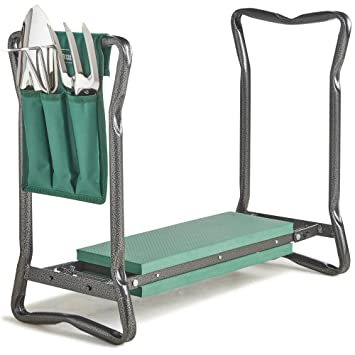VonHaus Garden Kneeler/Seat With 3Pc Tool Set And Bag Included U2013 Foldable Kneeling  Stool
