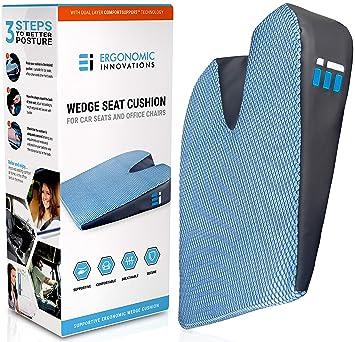 Memory Foam Car Seat Cushion Breathable Non Slip Dual Layer Memory And Polyurethane